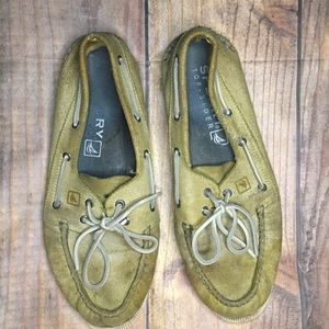 Yellow Sperry Top-Siders, size 12